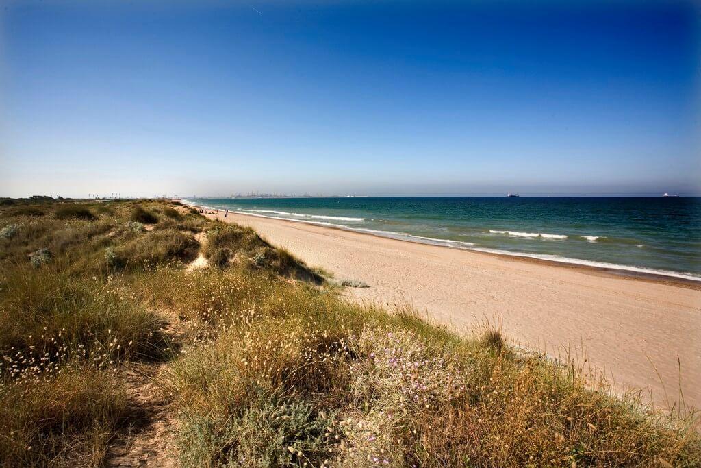 Playa Parque Natural L'ALbufera en Valencia