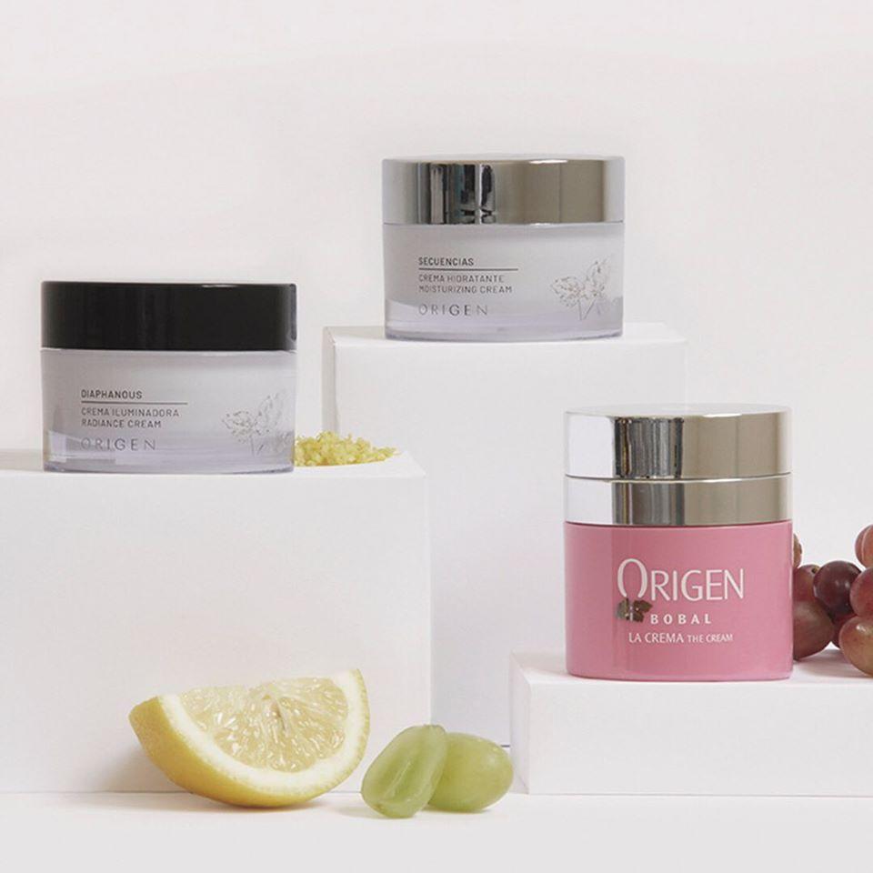Origen cosmetics cremas uva bobal