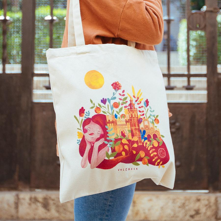 Tote Bag La Postalera souvenir Valencia