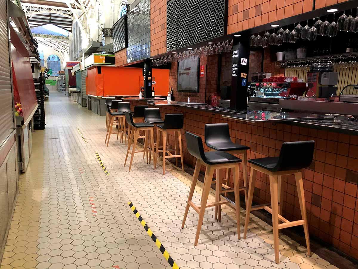 Mesas del Bar Central