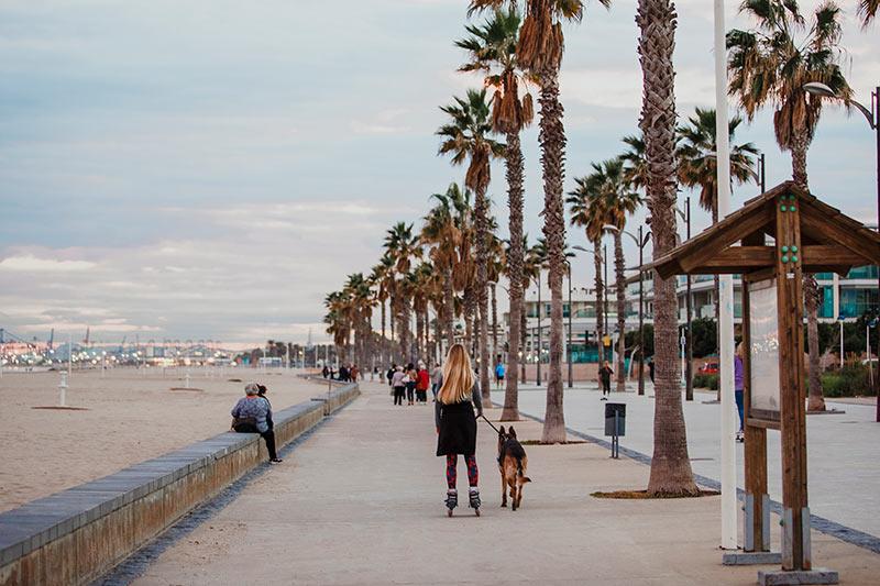 Playa de València en invierno